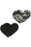 Peekaboos Satin & Lace Heart Pasties  XGen- Vixen Erotic Boutique