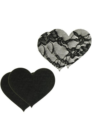 Peekaboos Satin & Heart Nipple Pasties Vixen Erotic Boutique