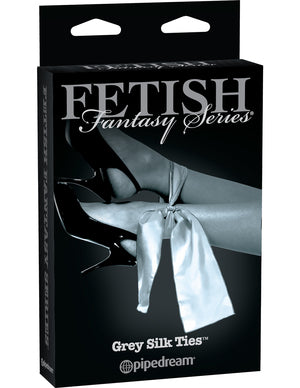 Fetish Fantasy Grey Silk Ties  Pipedream- Vixen Erotic Boutique