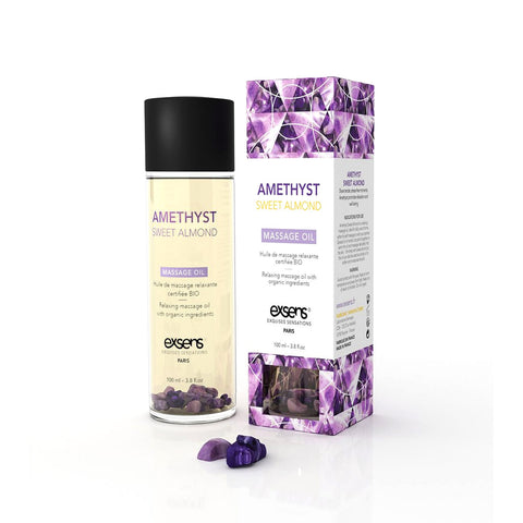 Amethyst Sweet Almond Relaxing Massage Oil  Exsens- Vixen Erotic Boutique