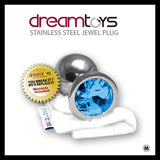 Stainless Steel Jewel Butt Plug- Medium  Dream Toys- Vixen Erotic Boutique