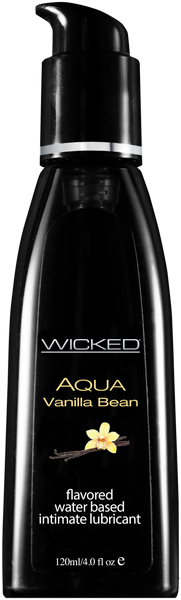 Wicked AQUA Vanilla Bean Lubricant  Wicked- Vixen Erotic Boutique