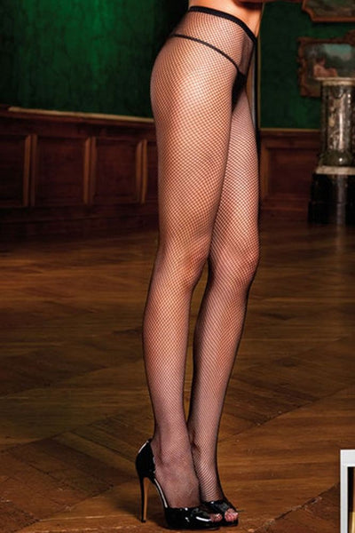 Tight Knit Black Fishnet Pantyhose  Baci- Vixen Erotic Boutique