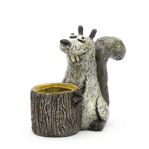 Blobhouse® 'Shirley' the Squirrel Mini Planter
