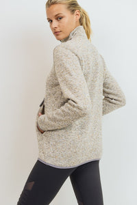 Natural Quarter Zip Pullover