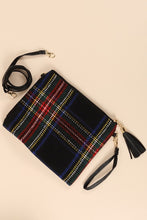 Holiday Plaid Clutch