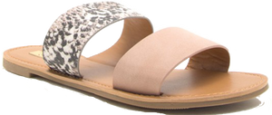 Blush Double Strap Sandal
