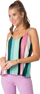 Green Multi Stripe Tank