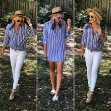 Blue Striped Collared Tunic