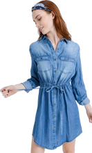 Denim Tencel Shirt Dress