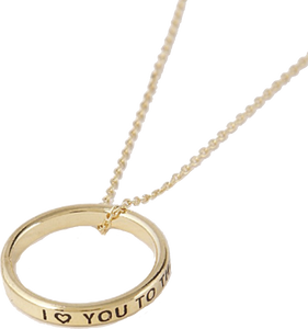 "Gold ""I Love You to the Moon and Back"" Ring Necklace"