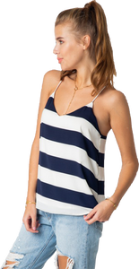 Navy/White Wide Striped Nautical Tank