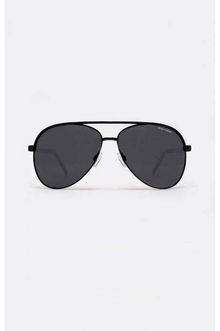 VIVIENNE Black Metal Aviator Sunglasses