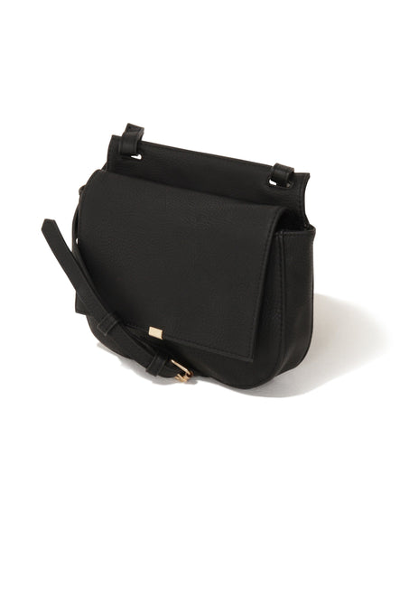 Black Cross Over Saddle Bag