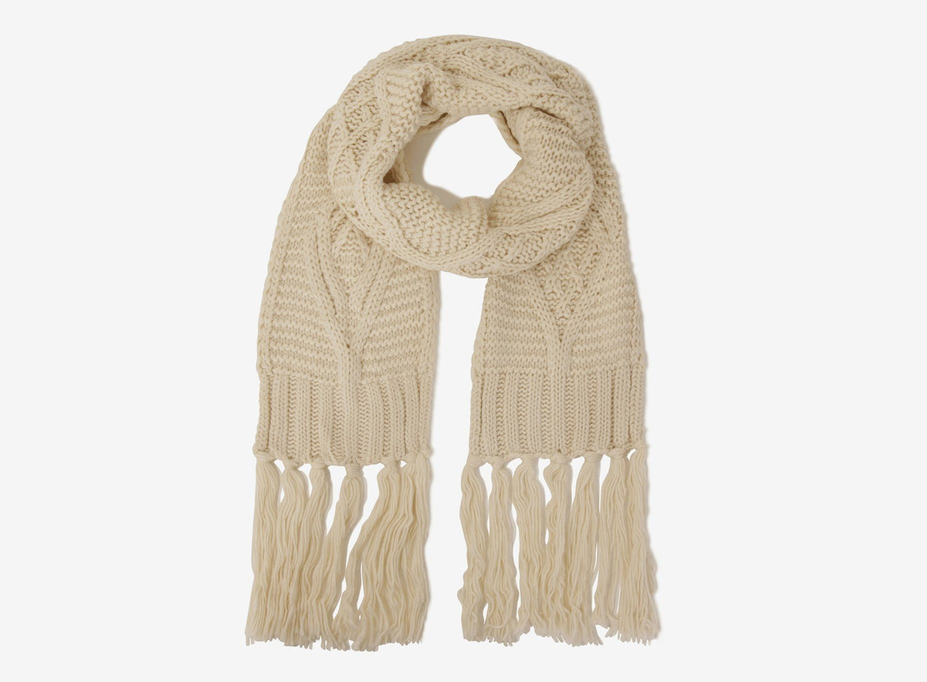 Cream Knit Scarf