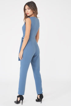 Asymmetric Fold Over Tailored Jumpsuit