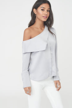 Asymmetric Satin Shirt