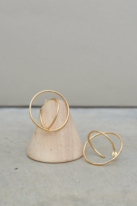 Orb Earrings in Gold-Plated Sterling Silver