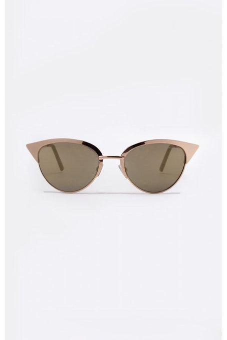 TILLY Gold Metal Cat Eye Sunglasses