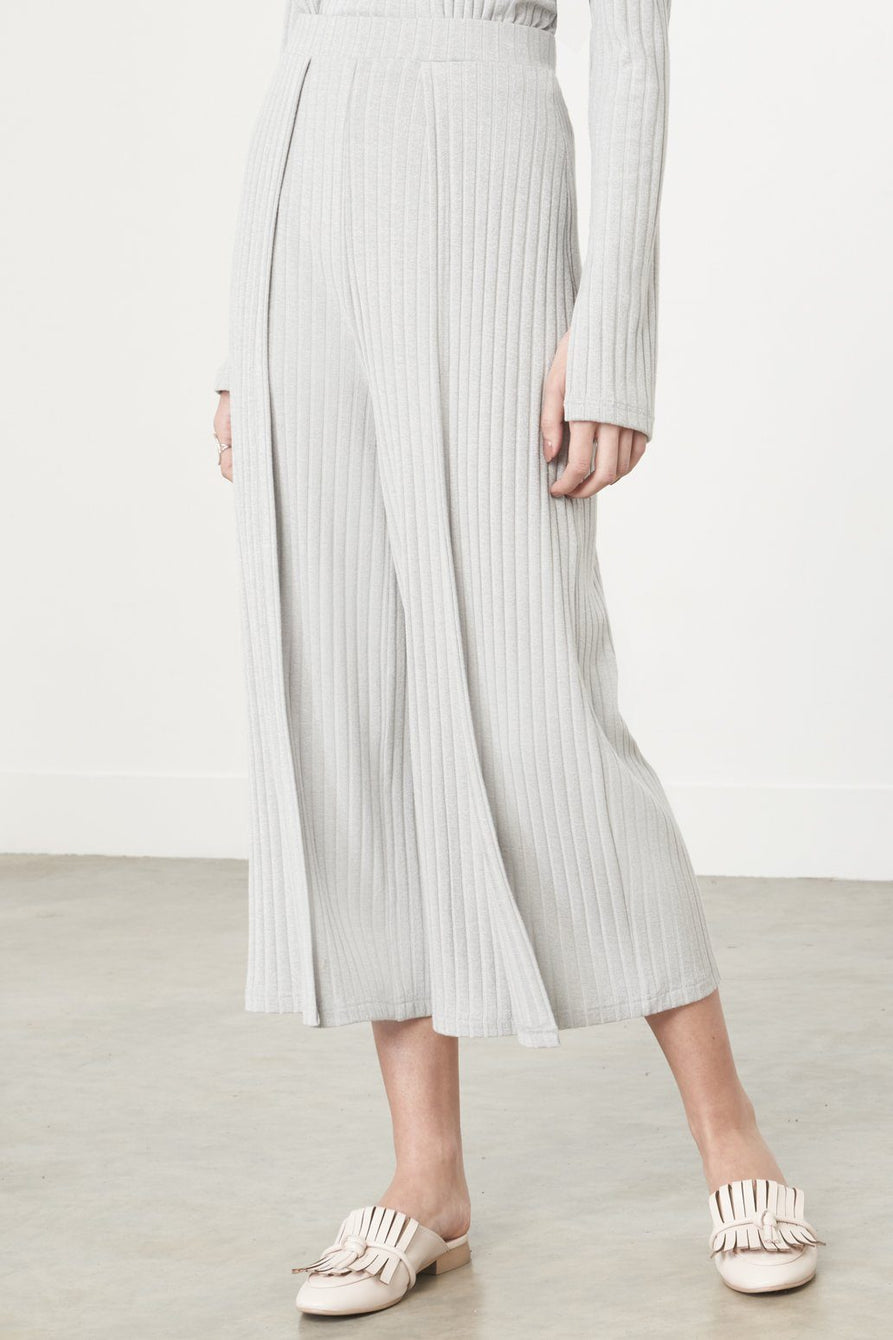Hakama Culottes in Grey Knit