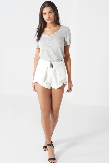 Off White Harness Belt Fold Back Shorts