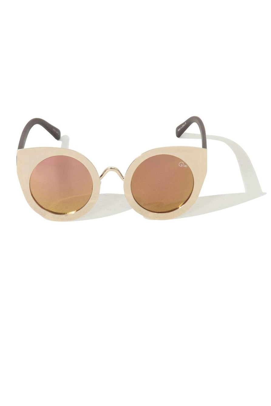 Tainted Love Rose Gold Round Cat Eye Sunglasses