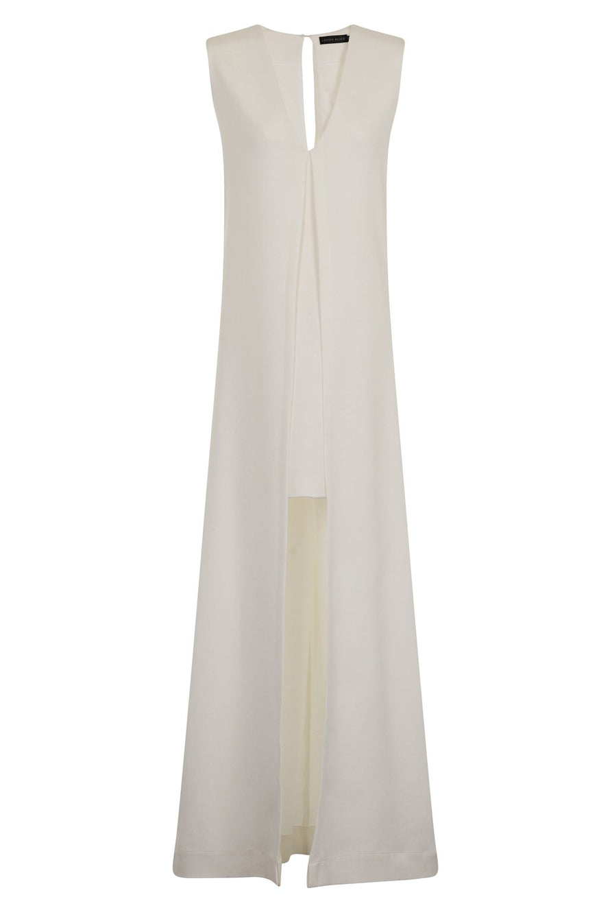 White Maxi Overlay Mini Dress