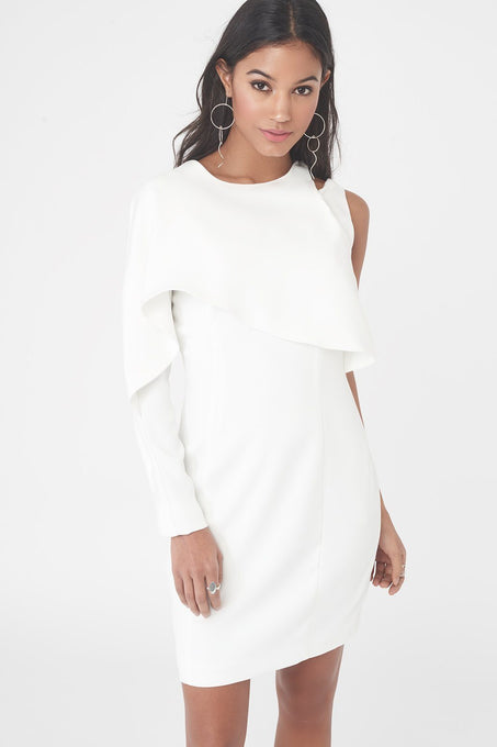 Asymmetric Drape Panelled Mini Dress