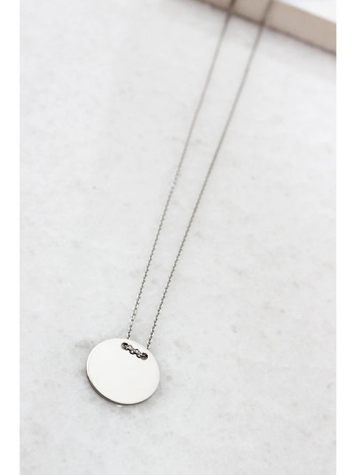 Sterling Silver Small Circle Pendant Necklace
