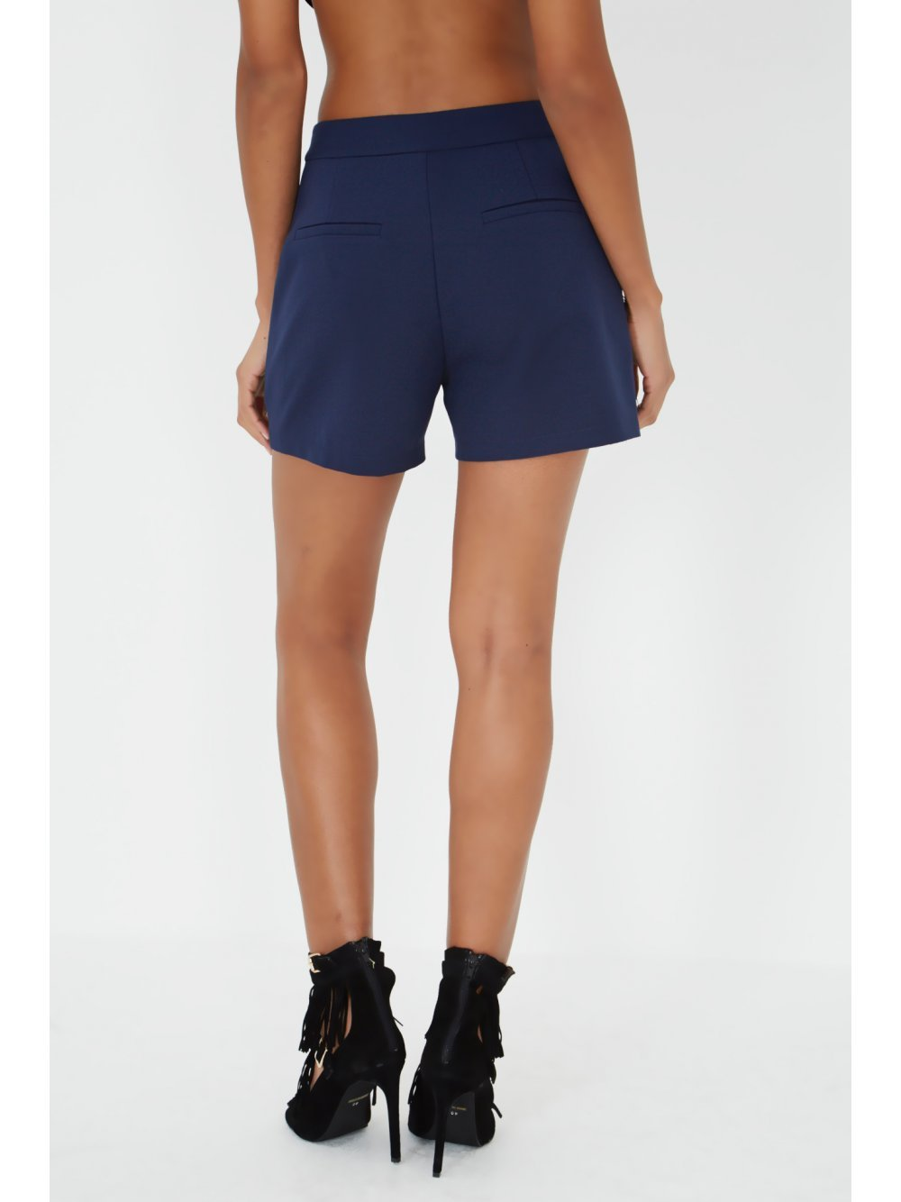 Navy & Black Tassel Shorts