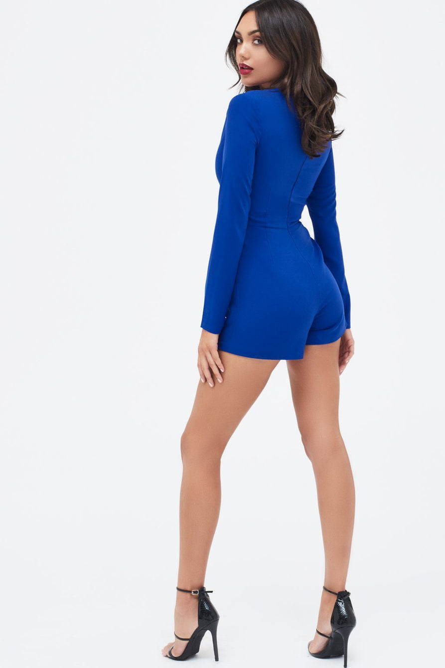 Asymmetric Cut Out Playsuit