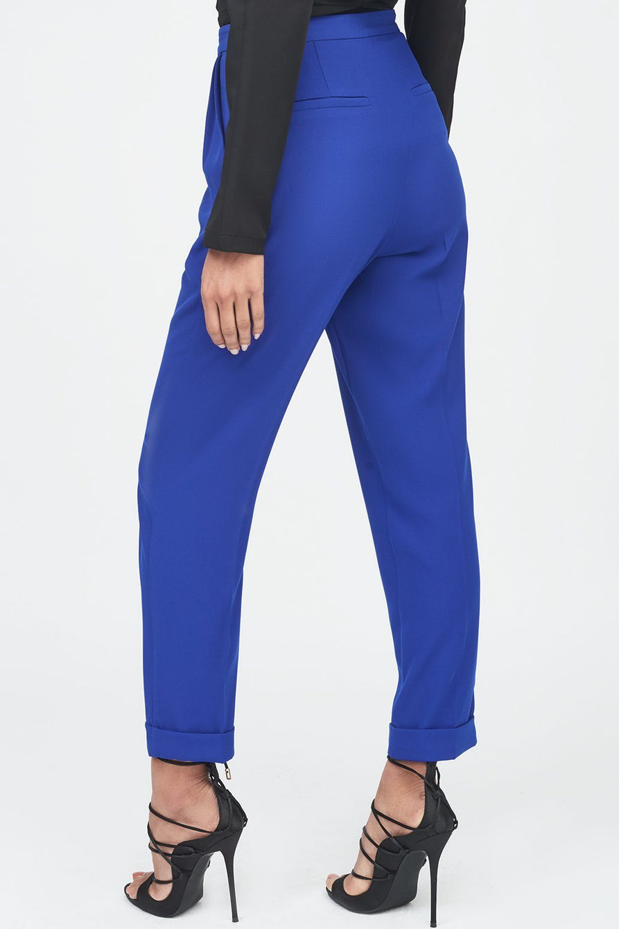 Tapered Mensy Trousers with Folded Hem