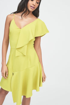 Draped Asymmetric Cami Mini Dress