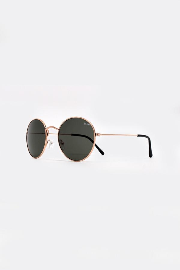 MOD STAR Gold Metal Round Sunglasses