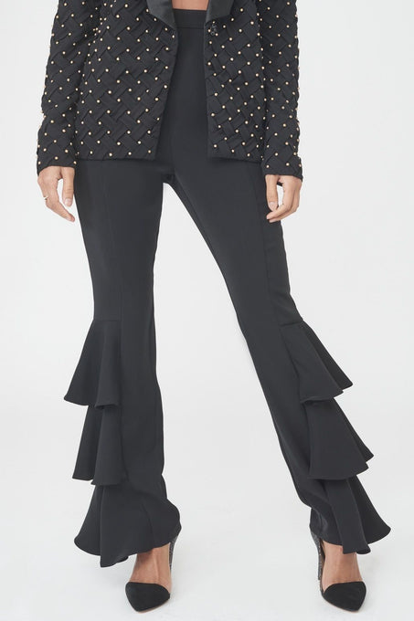 Frill Side Tailored Trousers