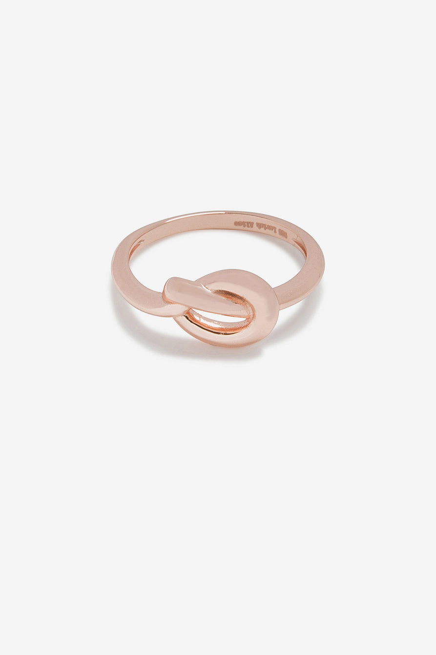 Knot Ring in Rose Gold-Plated Sterling Silver