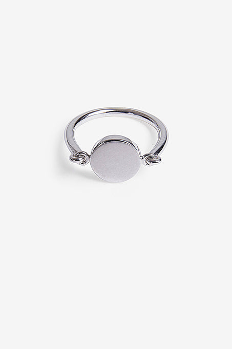 Minimal Signet Ring in Sterling Silver