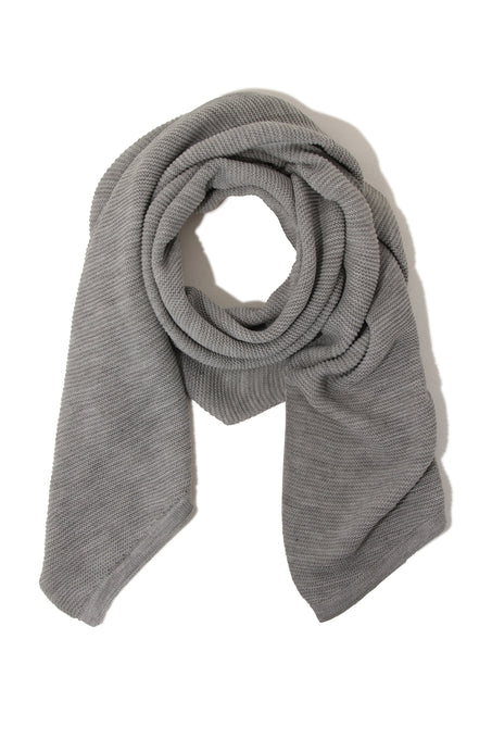 Light Grey Marl Textured Scarf