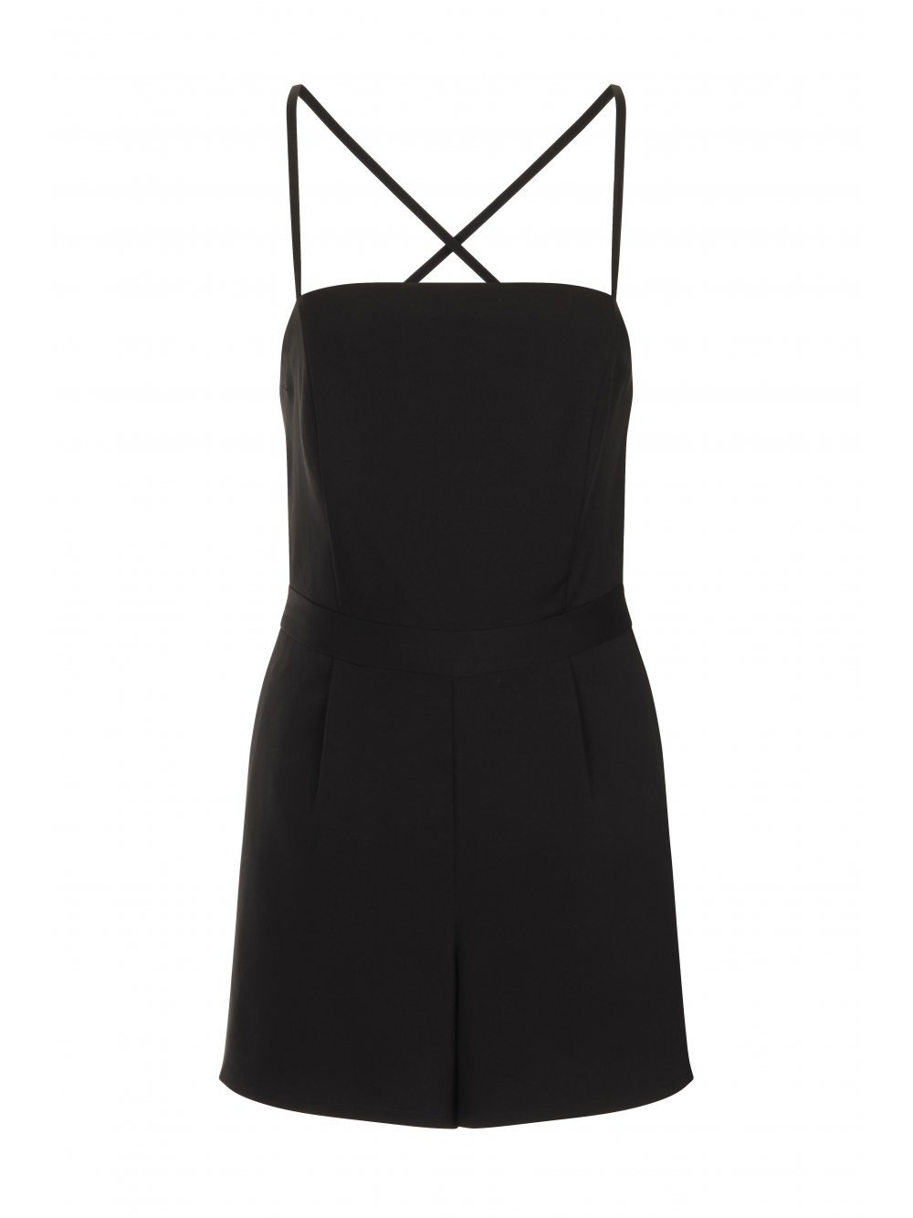 Black Cami Structured Playsuit
