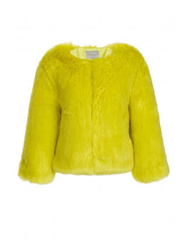 Lime Green Faux Fur Jacket