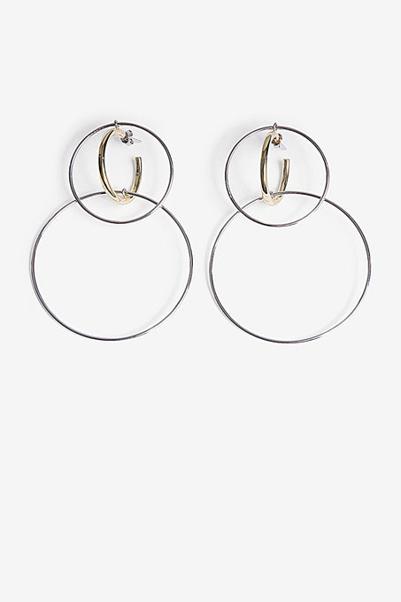 Triple Hoop Earrings in Gold Plated Sterling Silver