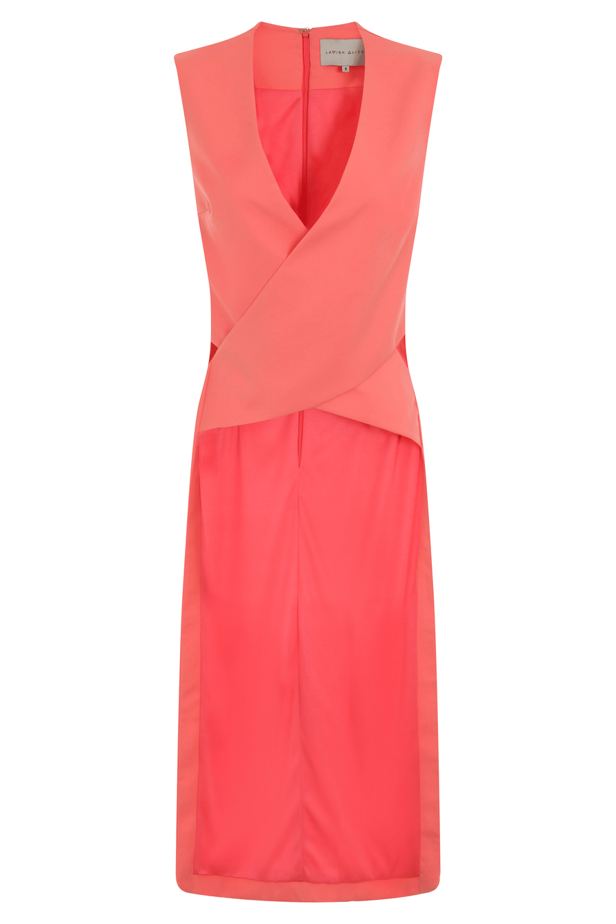 Coral Crossover Front Maxi Back Top
