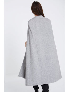 Grey Wool Cape Coat