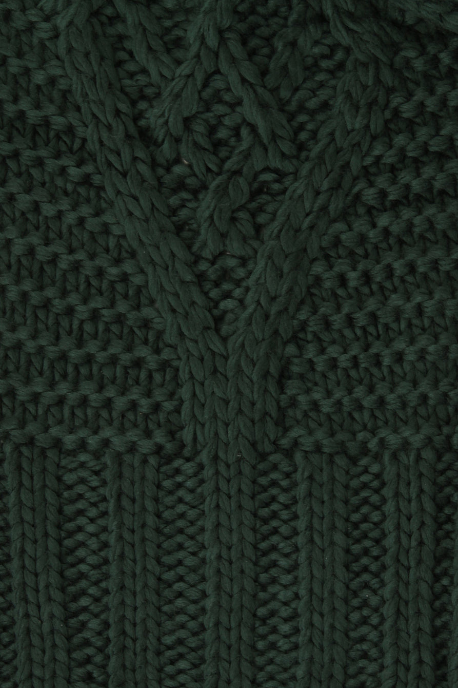 Dark Green Knit Scarf