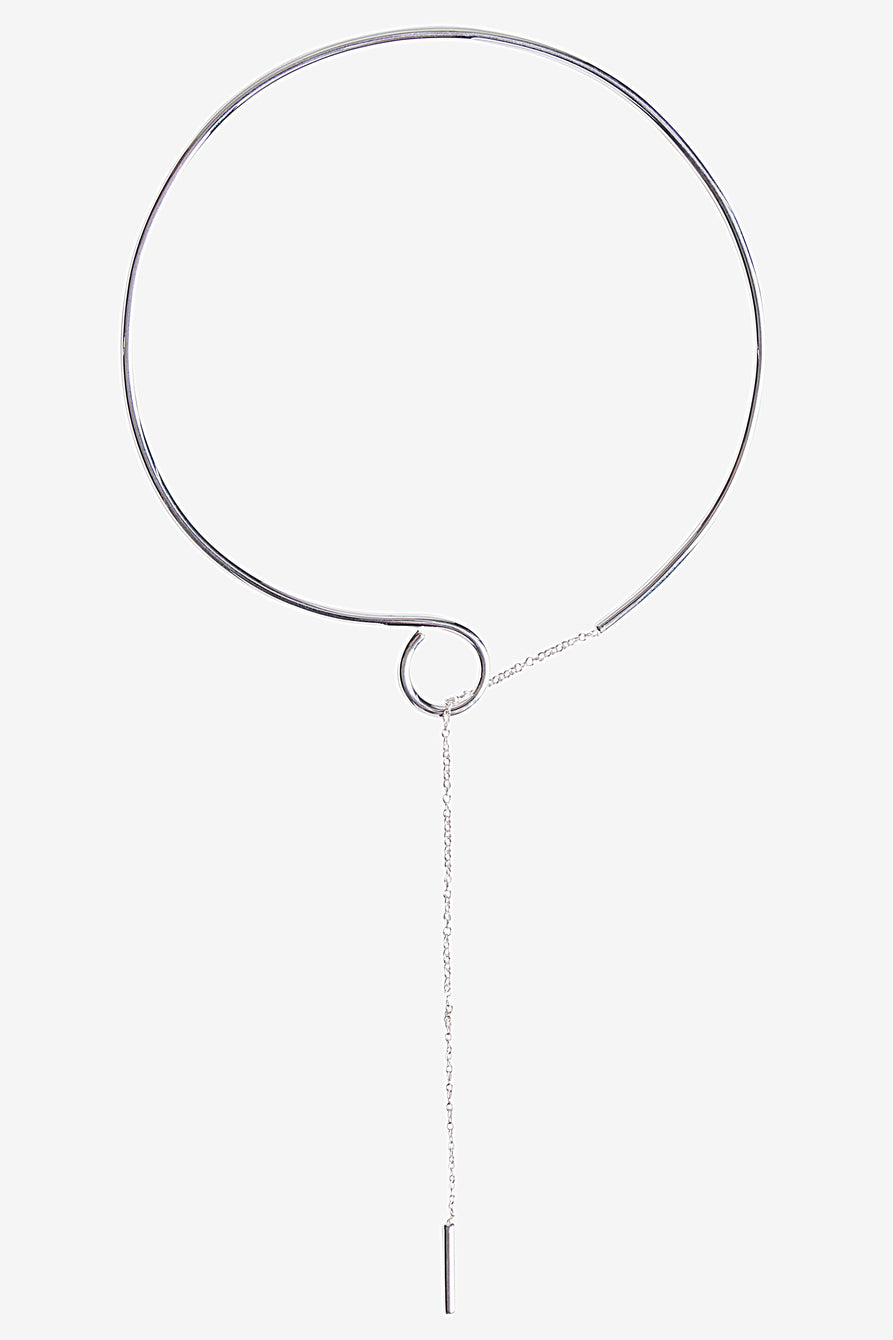 Minimal Choker Necklace in Sterling Silver