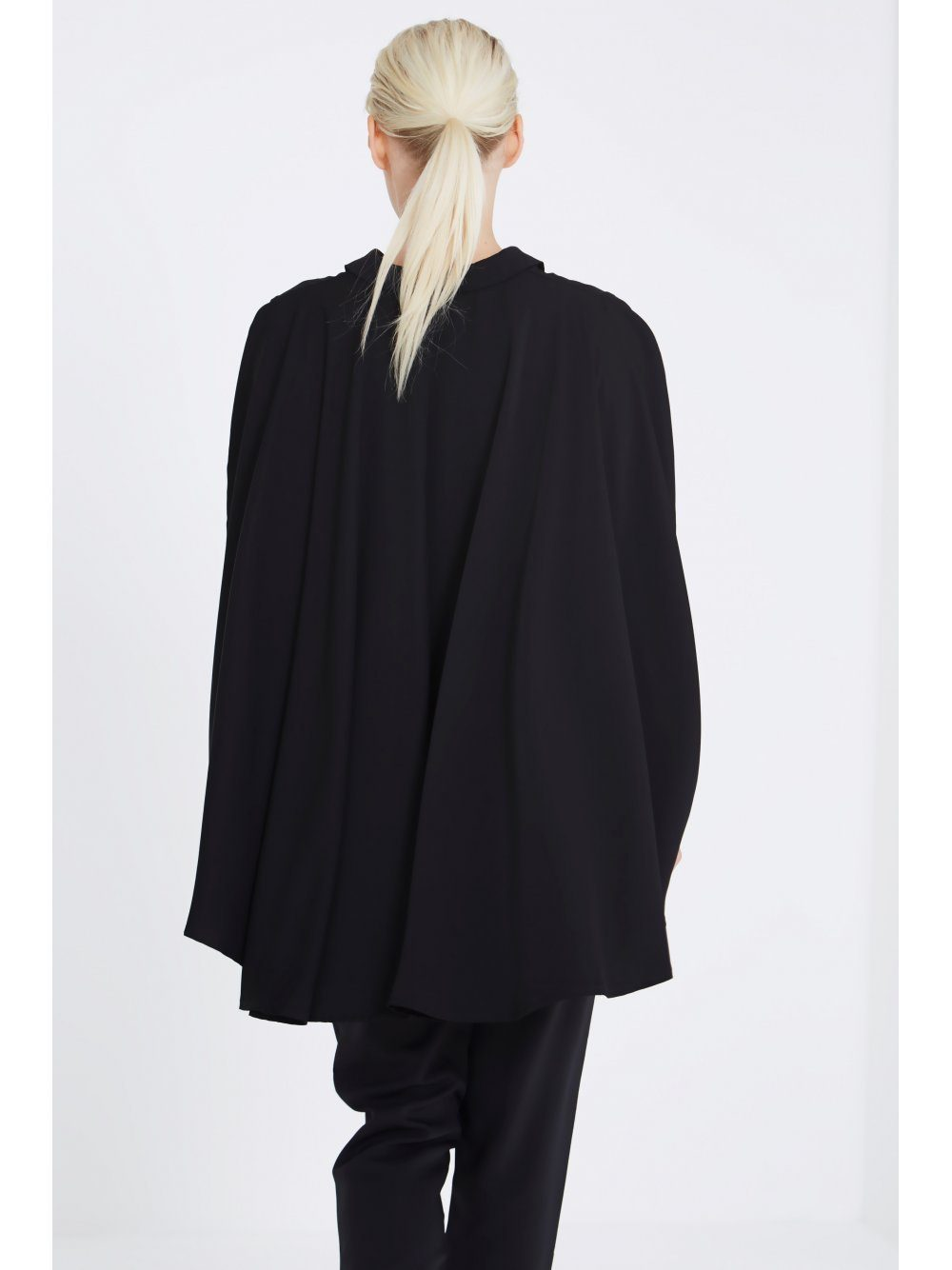 Black Cape Long Sleeve Shirt