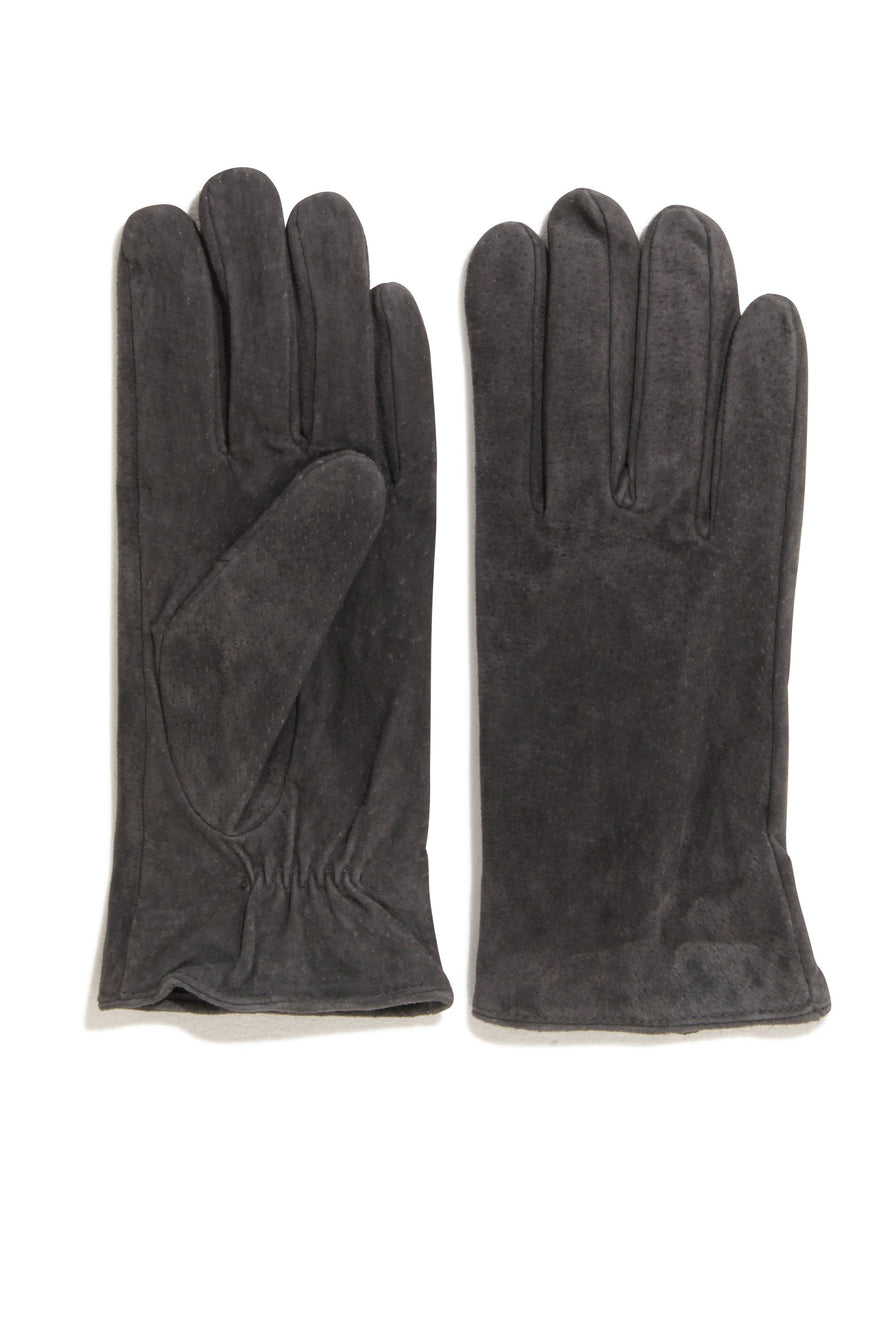 Charcoal Grey Suede Gloves
