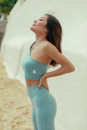High Waisted Seamless Leggings in Sage