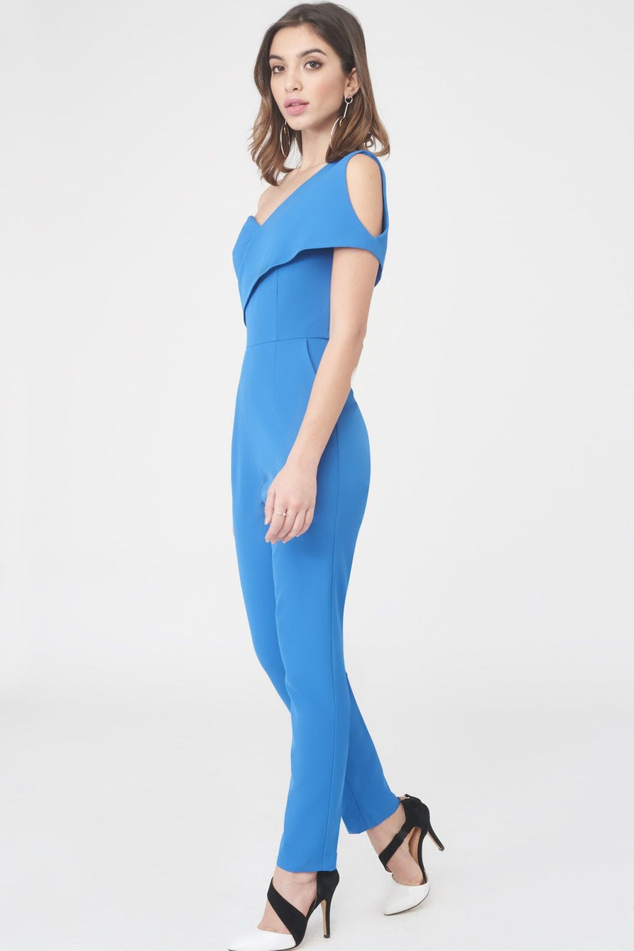 Asymmetric Cold Shoulder Jumpsuit