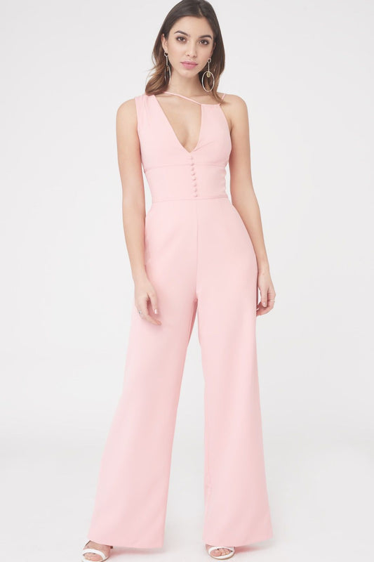 Multistrap Button Detail Jumpsuit